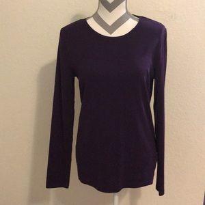 L NWT Lauren purple blouse